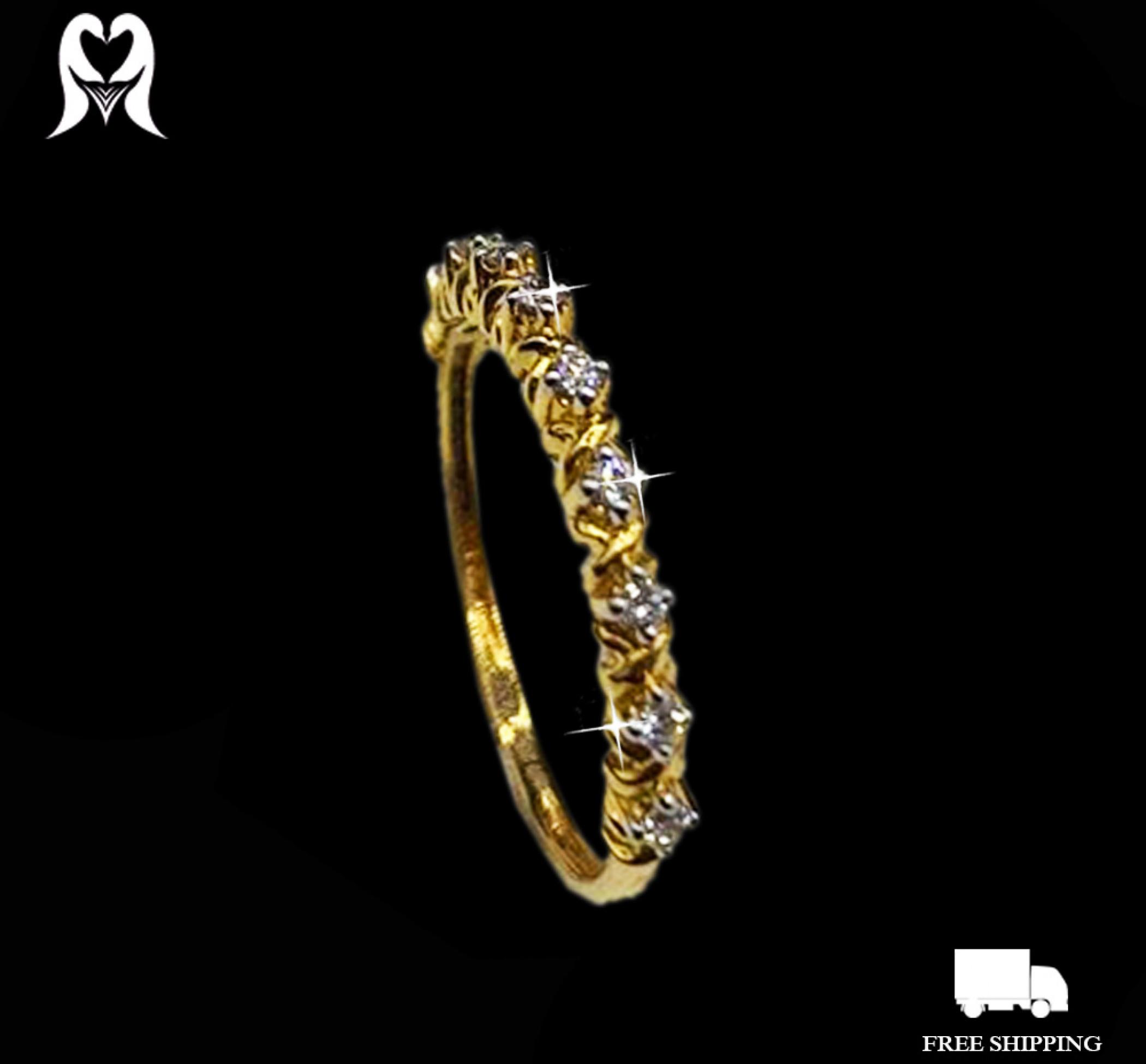 Diamond Ring 0.11CTS 9PCS  J57743 (CERT) [Wt:0.11 - 2030469]